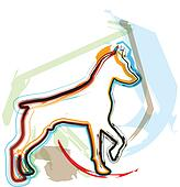 Dog, vector illustration
