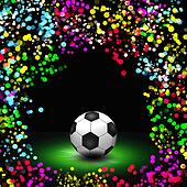 abstract colorful football background illustration