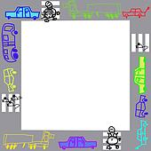 Photo frame or background for text, children's drawings