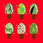 Colorful ice creams