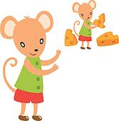 lovely mouse take a cheese