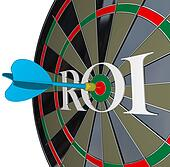 ROI Return on Investment Dartboard Targeting Wealth