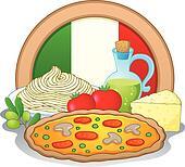 Italian food theme image 1