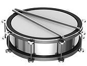 A silver drum