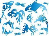 Flamy Sea Creature Designs