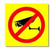 The Sign of no video surveillance isolated on white background