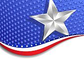 Stars and Stripes with Silver Star