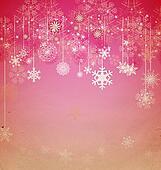 christmas vintage snowflake card
