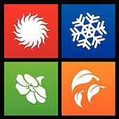 Metro style four seasons icons
