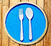 The Sign of fork and spoon on plate