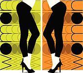Sexy pants illustration