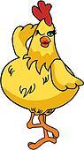 Daft Chicken Cartoon 02