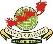 Santa Claus Christmas Globe Reindeer