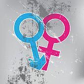 sex symbol on grunge wall