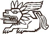 Aztec Winged Lion
