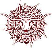 Texas Aztec Sunburst