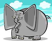 funny elephants cartoon against sky