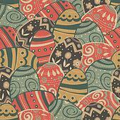 Seamless easter eggs pattern. Vector, EPS10
