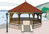 Bandstand near the lake