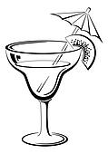 Glass with drink, black pictogram