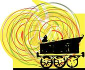 Abstract Train. Vector illustration