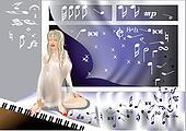 girl at the piano
