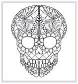 Abstract skull lace ornament.