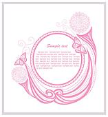 Invitation template with floral ele
