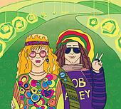 Two Young Hippies.