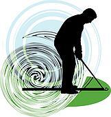 Golfer. Vector illustration