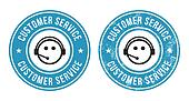 Customer service retro badges