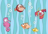 Funny sea creatures