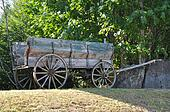 Rustic old horse drawn wagon