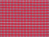 Red black and blue tablecloth