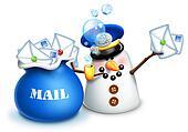 Whimsical Snowman Mailman