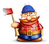 Whimsical Cartoon Lumberjack