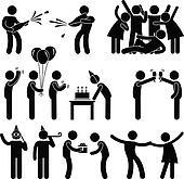 Friend Party Celebration Birthday