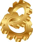 golden cog wheels