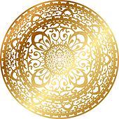 gold oriental rug / napkin