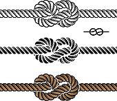 vector black rope knot symbols
