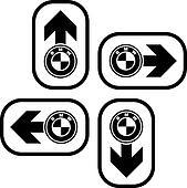 vector bmw spirit design navigation arrows