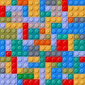 Seamless pattern of plastic building blocks