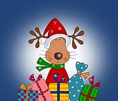 Reindeer with gift wraps