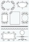 Big collection of ornate vector fr