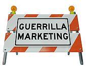 Guerrilla Marketing Sign Barrier Barricade Words