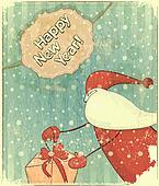 Christmas cards with Santa