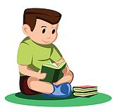boy read book