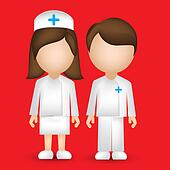 male and female nurse