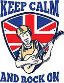 Queen Granny Drums Keep Calm Rock On British Flag