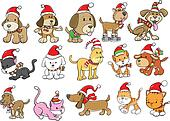 Christmas Holiday Dog and Cat Set